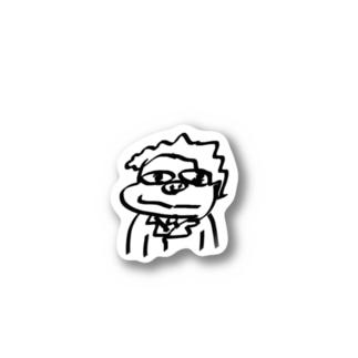 夢に出てきたカバおじさん Stickers