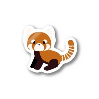 レッサーパンダ Stickers