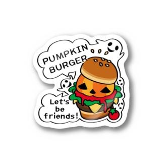 Gz かぼちゃバーガーA(st) Stickers