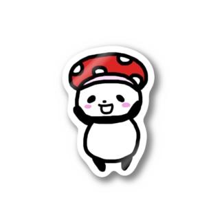 キノコ帽子のしのぱん Stickers