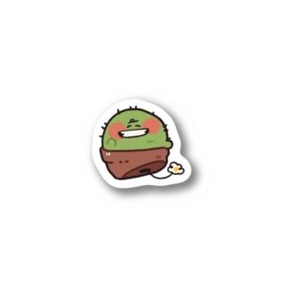 ニッコリサボテン ステッカー Stickers