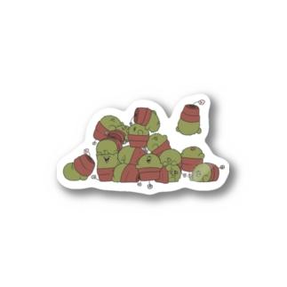 イッパイサボテン ステッカー Stickers