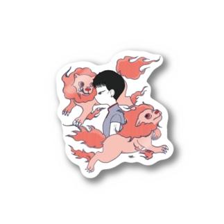 獅子座の女ステッカー Stickers