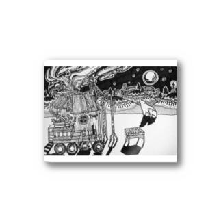 オーロラのよる Stickers