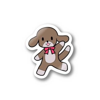 桃星雲 〜小桜みみなのお店〜の踊る犬 Stickers