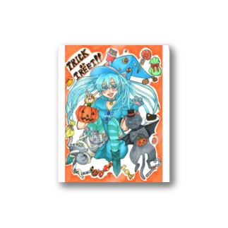 ⋆⸜🍭trick or treat🍬⸝⋆魔法少女miku with 使い魔にゃんズ Stickers