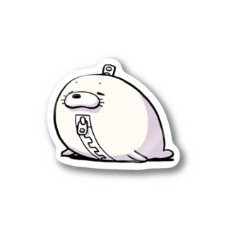 【チャックま】アザラシッパー Stickers