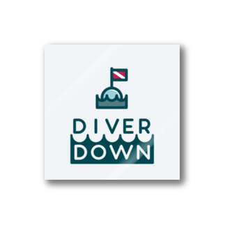 Diver Down公式ショップのDiver Downステッカーステッカー