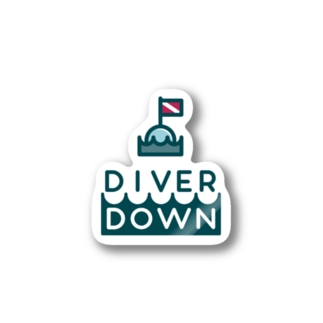 Diver Downステッカー Stickers