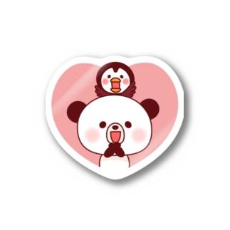 たかせ ゆづきのぽんやんとパフィ(ハート) Stickers
