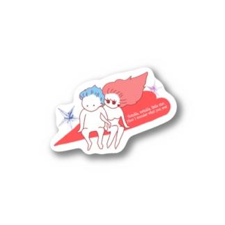 Night flight!のふたり Stickers