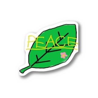 ピースな葉っぱ Sticker