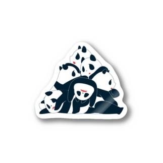 熊猫山 ステッカー
