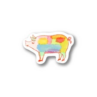ぶたシール Stickers