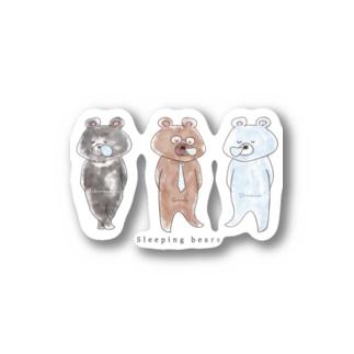 スリーピングベアーズ Stickers