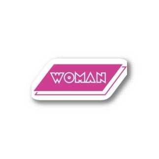 WOMAN's wear Stickers