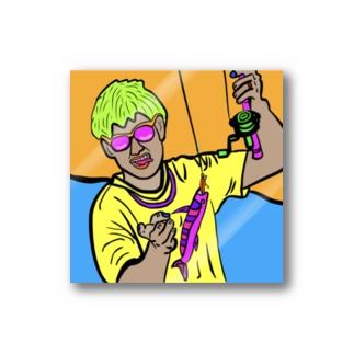 ラスボスアングラー【釣りを愛する全ての人へ】 Stickers