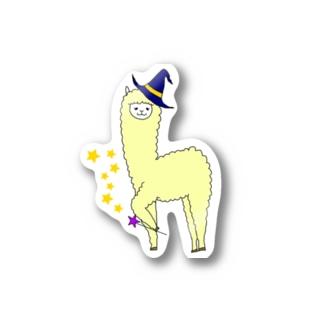 ハロウィン魔女アルパカ Stickers