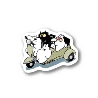 ねこうサイドカー Stickers