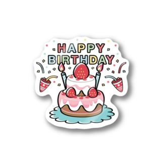 HAPPY BRITHDAY_3 Stickers