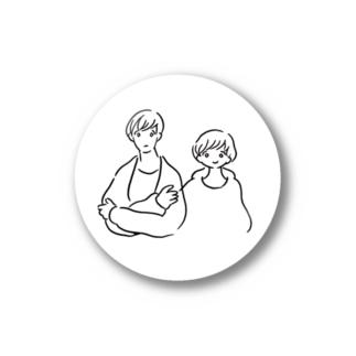シロとメロのシール Stickers