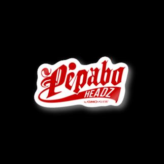 PEPABO HEADZのPEPABO HEADZ Red Logoステッカー