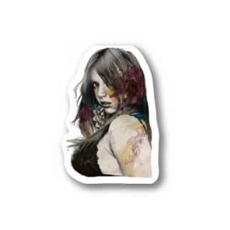 Redbubbleの女の子 Stickers