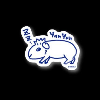 CHEBLOの半目のヤンチー Stickers