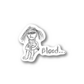 Blood...sticker Stickers