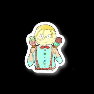 屋台のアイス男ステッカー Stickers
