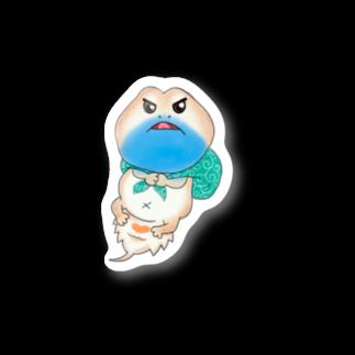 Zipply × Hachucliのちょいおこゼノガマステッカー