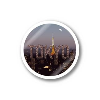 Tokyo City Type Sticker Stickers