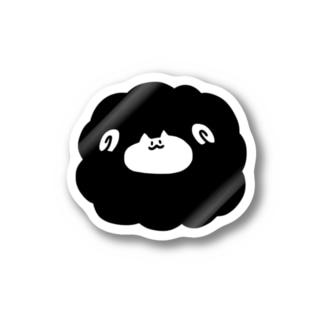 まんまるひつじねこ Stickers