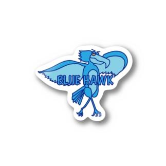 茶おのブルーホーク Stickers