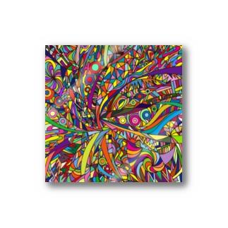 Rainbow explosion_ square Stickers