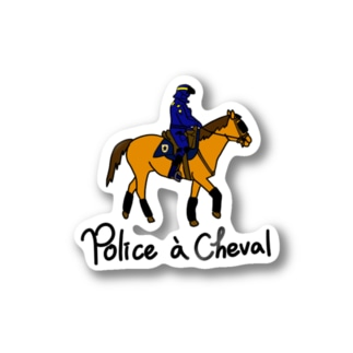 Police a Cheval Stickers