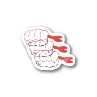 エビ Stickers