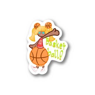 バスケットガール Stickers