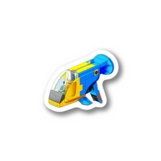 PoooompadoooourのGUPPY(ブルーネオンタキシード) Sticker
