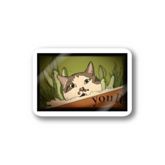 okappa-cat Stickers