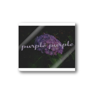 purpleすてっかー Stickers