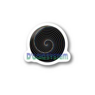 ブラックボール D'gaia Stickers