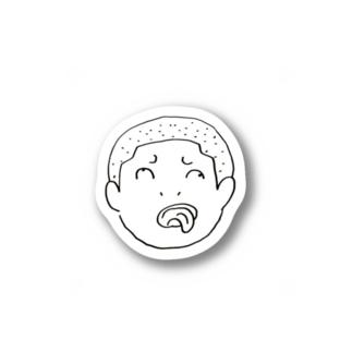 ガンギマリ坊主ステッカー Stickers