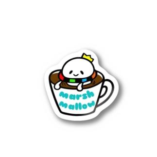 マグカップの中のマシュマロ王子。 Stickers