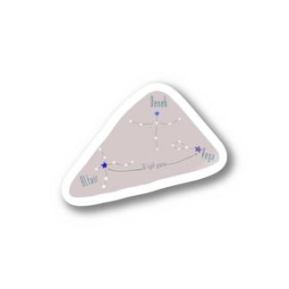 星座・夏の大三角形(Invert) Stickers