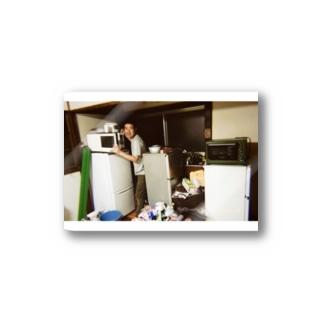 冷蔵庫廃品回収記念品(カラー) Stickers