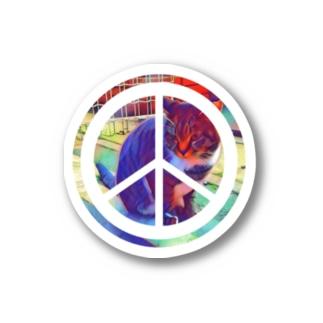 PEACE CAT Stickers