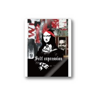 ストリートアート モナリザ Stickers