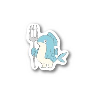 ぎょじん(色付き) Stickers