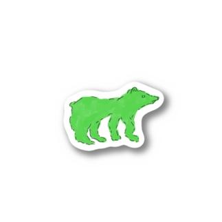 グリーンベア Stickers